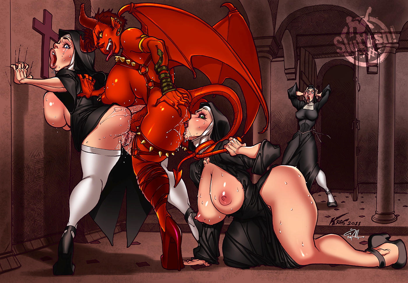 Succubus big boobs porn cartoon clip